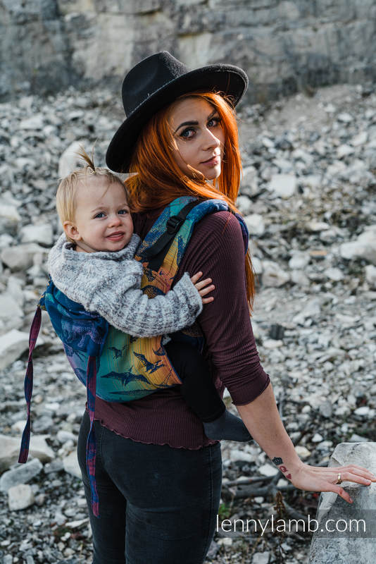 Lenny Buckle Onbuhimo baby carrier, standard size, jacquard weave (100% cotton) - JURASSIC PARK - NEW ERA #babywearing