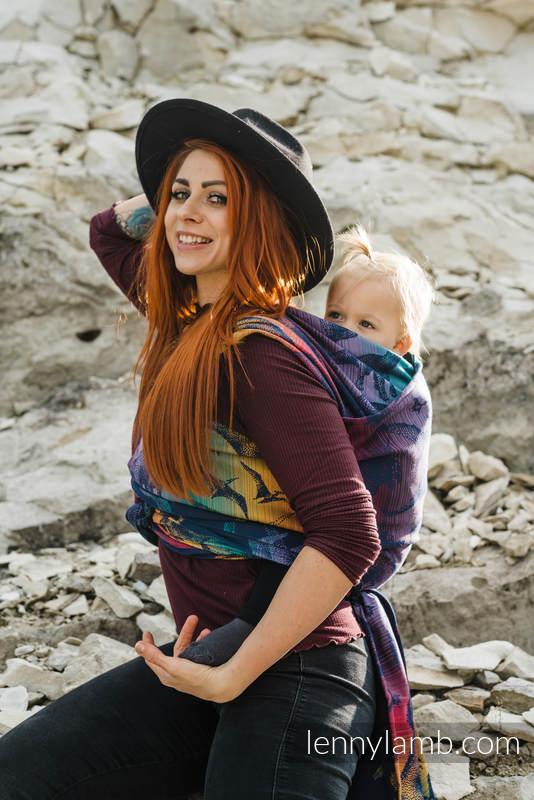 Baby Wrap, Jacquard Weave (100% cotton) - JURASSIC PARK - NEW ERA - size XS #babywearing