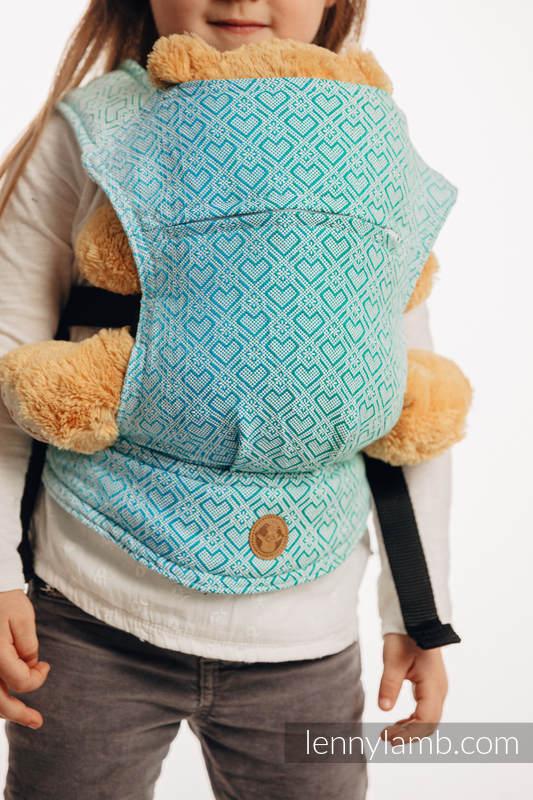Nosidełko dla lalek z tkaniny chustowej - BIG LOVE - MROŻONA MIĘTA  #babywearing