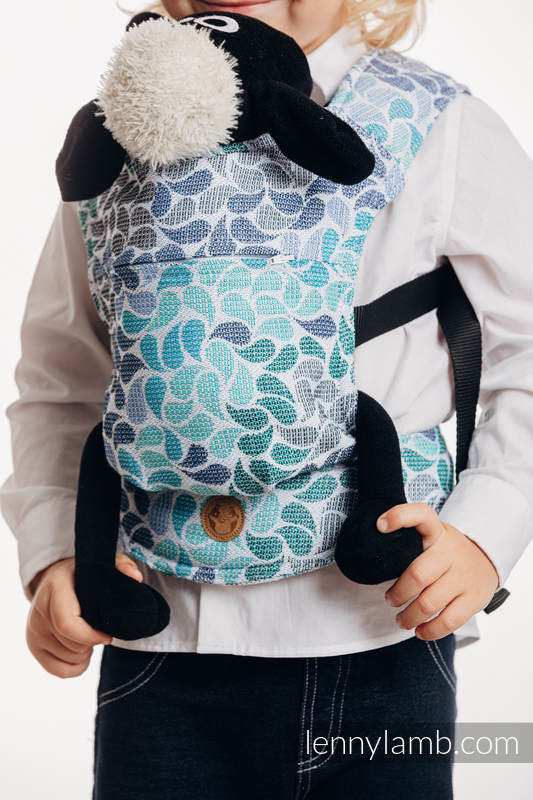 Doll Carrier made of woven fabric, 100% cotton  - COLORS OF HEAVEN #babywearing