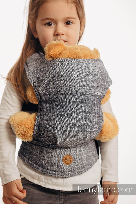 Doll Carrier made of woven fabric, 100% cotton - DENIM BLUE #babywearing
