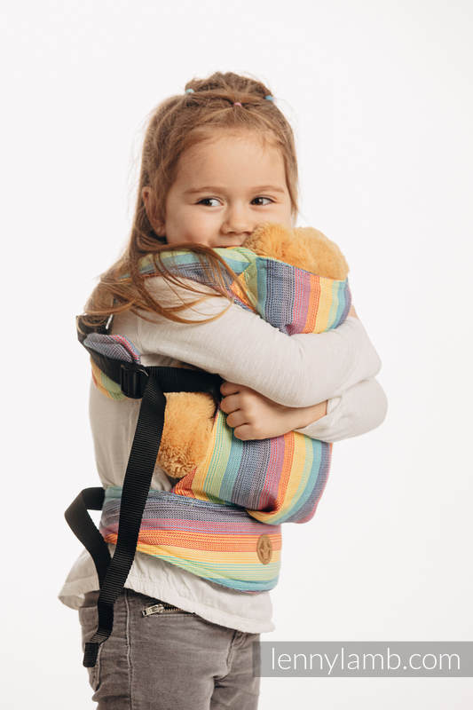 Doll Carrier made of woven fabric, 100% cotton - LUNA #babywearing
