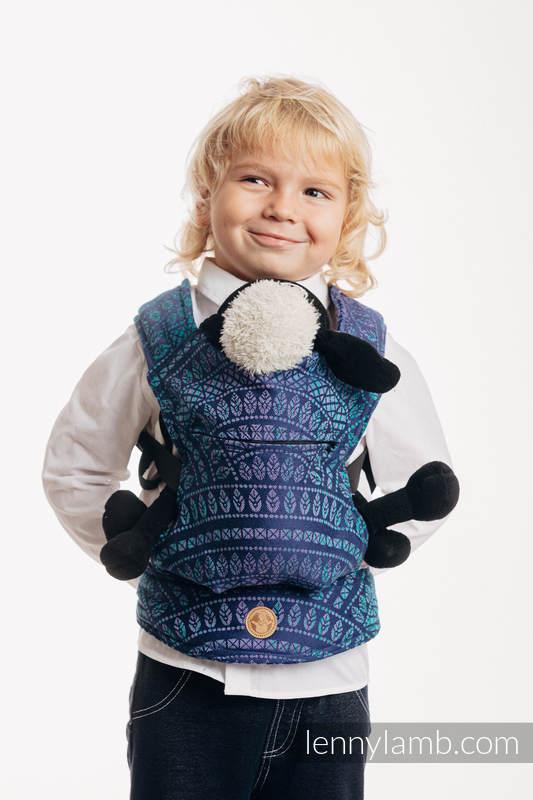 Mochila portamuñecos hecha de tejido, 100% algodón - PEACOCK'S TAIL - PROVANCE  #babywearing
