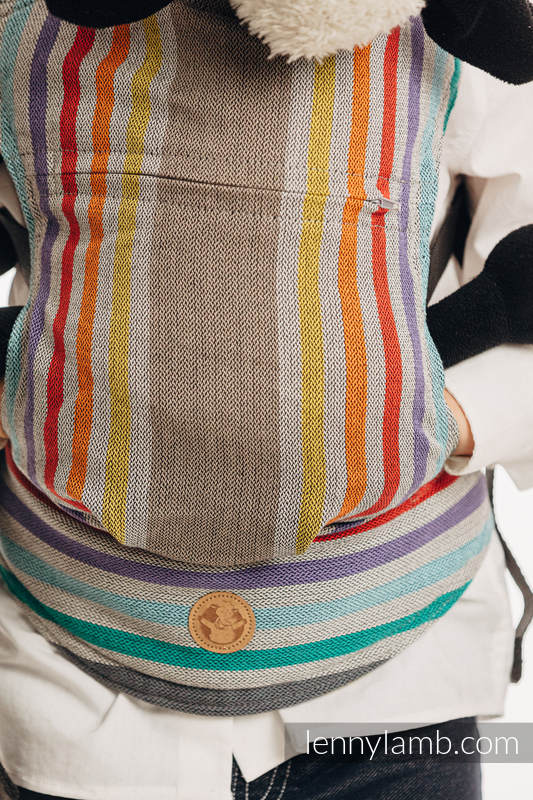 Doll Carrier made of woven fabric, 100% cotton  - OASIS #babywearing