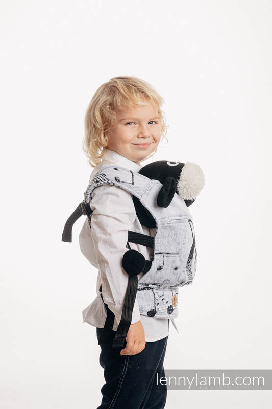 Doll Carrier made of woven fabric, 100% cotton - SYMPHONY CLASSIC #babywearing