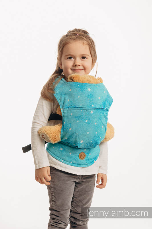 Doll Carrier made of woven fabric, 96% cotton, 4% metallised yarn - TWINKLING STARS - PERSEIDS #babywearing