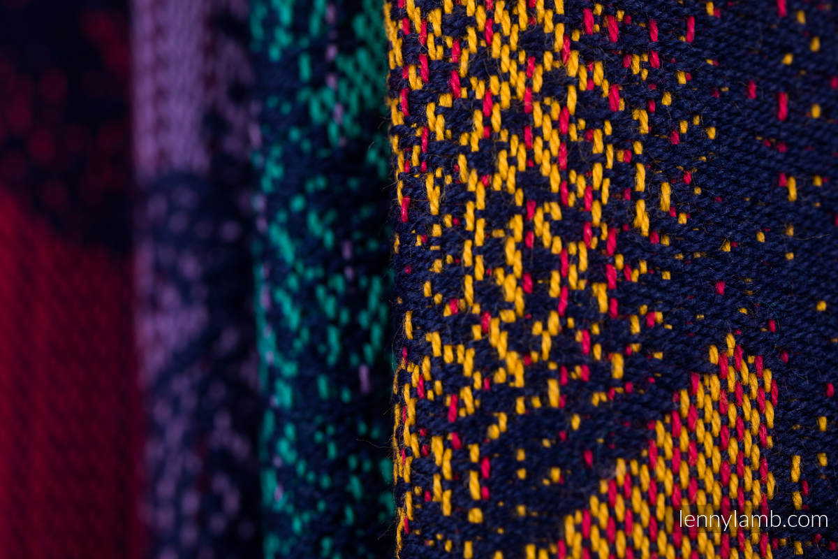 Żakardowa chusta do noszenia dzieci, 100% bawełna - PARK JURAJSKI - NOWA ERA - rozmiar XS #babywearing