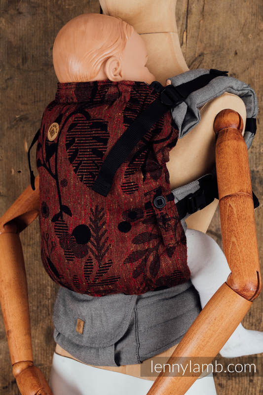 LennyUpGrade Carrier - CHOICE - EXPERIMENT 21 - Standard Size, jacquard weave, (38% merino wool, 34% tussah silk, 28% combed cotton) #babywearing