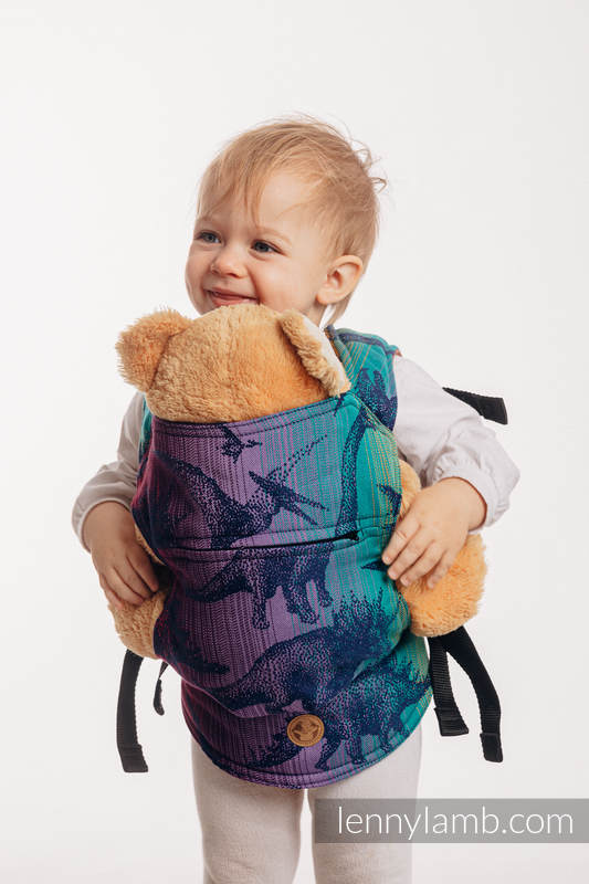 Doll Carrier made of woven fabric, 100% cotton - JURASSIC PARK - NEW ERA #babywearing