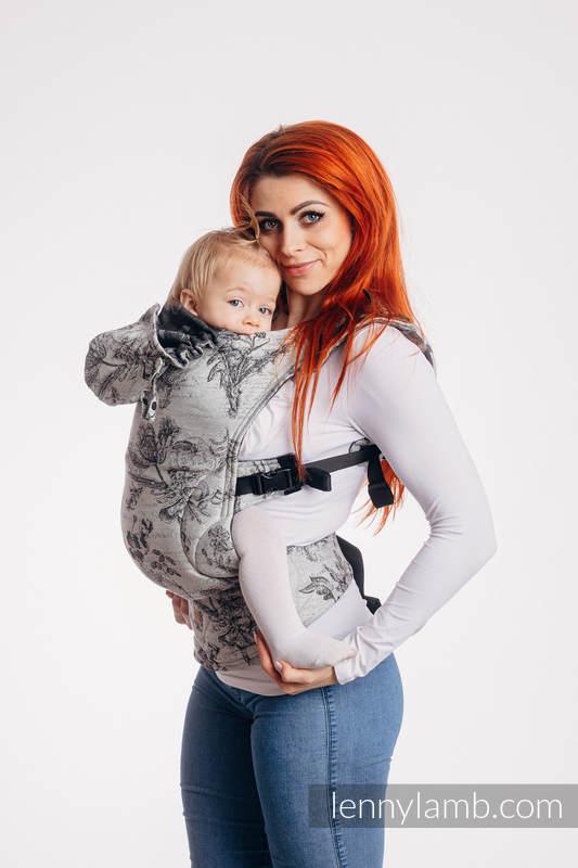 LennyGo Ergonomic Carrier, Baby Size, jacquard weave 100% cotton - HERABARIUM ROUNDHAY GARDEN #babywearing
