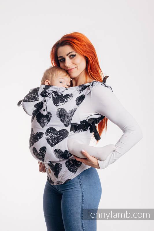LennyGo Ergonomic Carrier, Baby Size, jacquard weave 100% cotton - LOVKA CLASSIC #babywearing