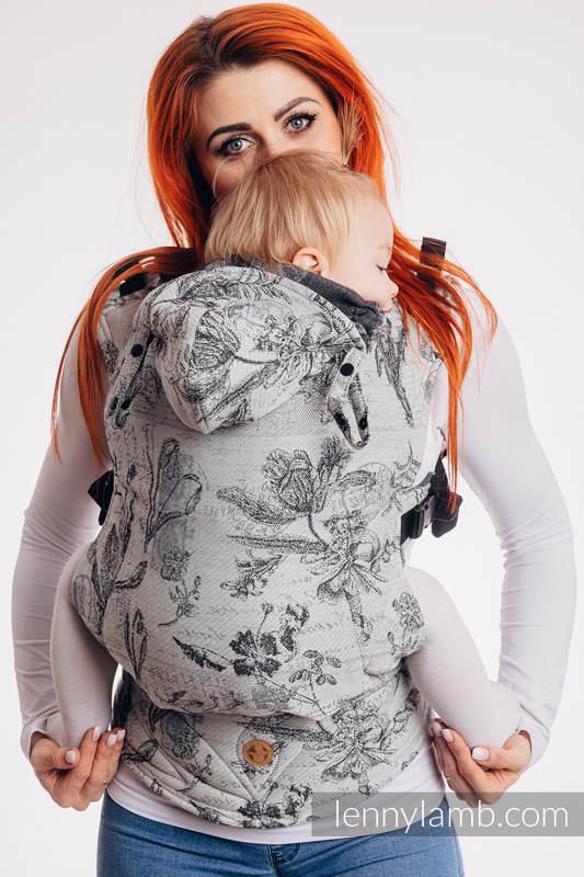 LennyGo Ergonomic Carrier, Toddler Size, jacquard weave 100% cotton - HERABARIUM ROUNDHAY GARDEN #babywearing