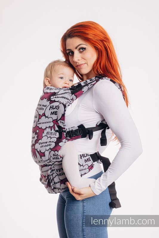 LennyUpGrade Carrier, Standard Size, jacquard weave 100% cotton - HUG ME PINK #babywearing
