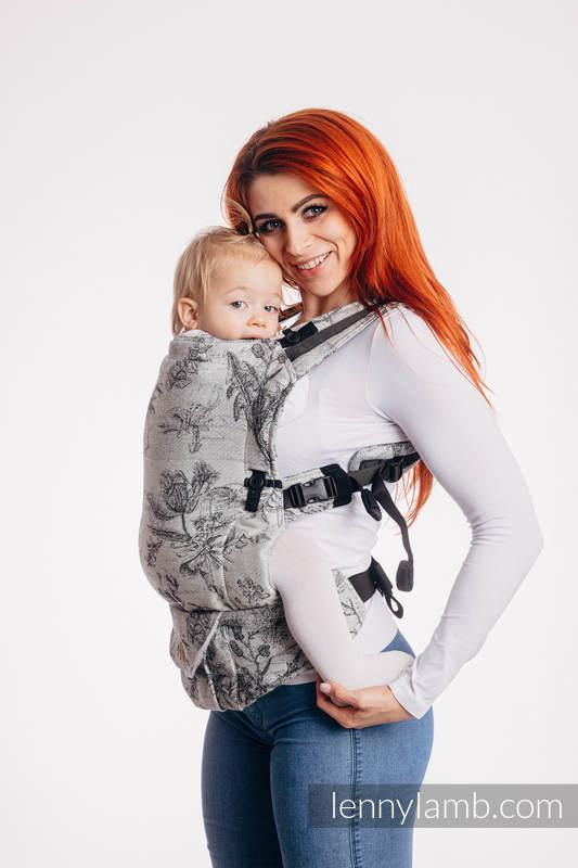 LennyUpGrade Carrier, Standard Size, jacquard weave 100% cotton - HERBARIUM ROUNDHAY GARDEN #babywearing