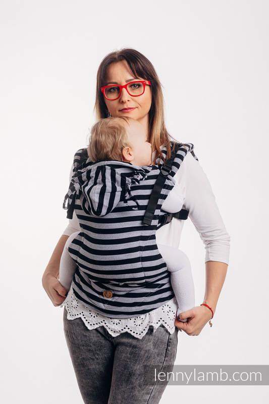 Nosidełko Ergonomiczne LennyGo z tkaniny skośnokrzyżowej 100% bawełna , rozmiar Baby - ŚWIATŁA I CIENIE #babywearing