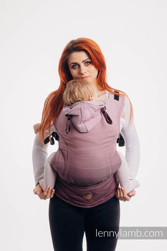 LennyGo Ergonomische Tragehilfe, Größe Toddler, Fischgrätmuster, 100% Baumwolle - LITTLE HERRINGBONE OMBRE PINK #babywearing