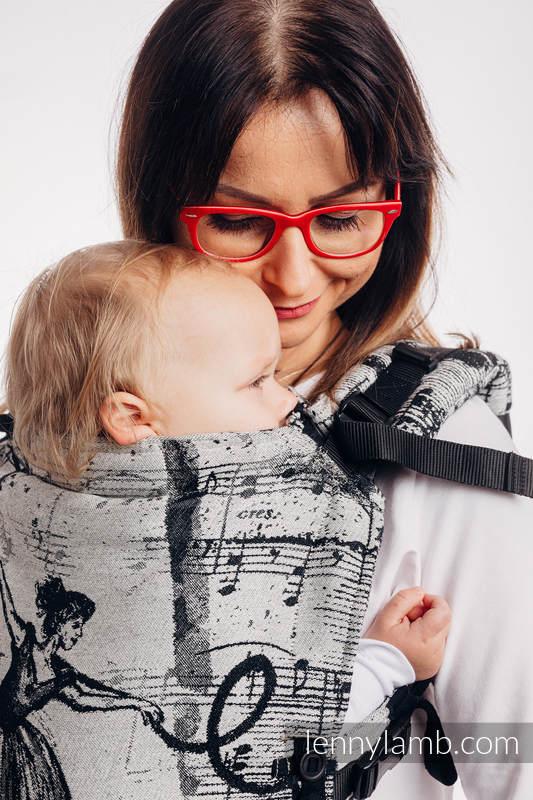 Nosidełko LennyUpGrade z tkaniny żakardowej 100% bawełna , rozmiar standard - TAŃCZĄCE MARZENIA #babywearing