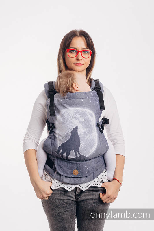LennyUpGrade Carrier, Standard Size, jacquard weave 100% cotton - MOONLIGHT WOLF #babywearing