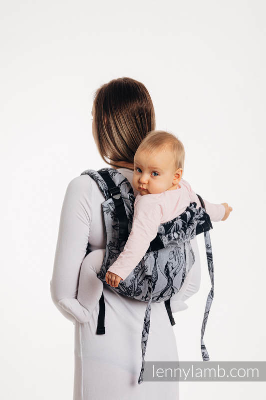 Lenny Buckle Onbuhimo Tragehilfe, Größe Standard, Jacquardwebung (100% Baumwolle) - TIME (with skull)  #babywearing