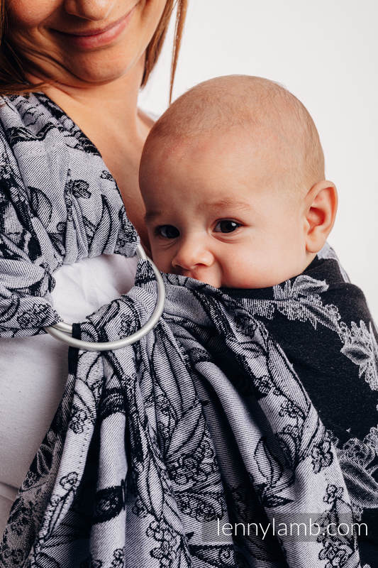 Ringsling, Jacquard Weave (100% cotton) - Time (with skull) - long 2.1m #babywearing