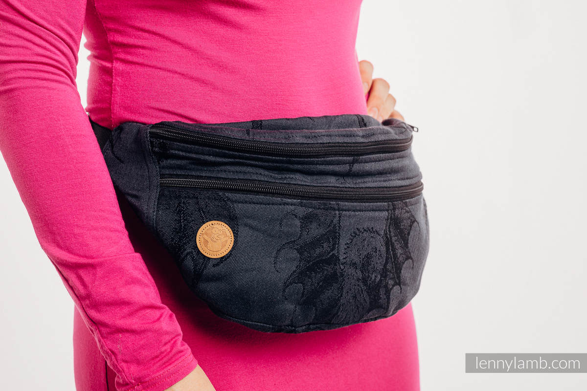 Waist Bag made of woven fabric, size large (100% cotton) - DRAGON - DRAGONWATCH #babywearing
