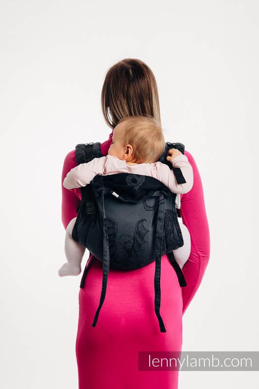 Nosidło Klamrowe ONBUHIMO z tkaniny żakardowej (100% bawełna), rozmiar Standard - DRAGON - SMOCZA STRAŻ #babywearing
