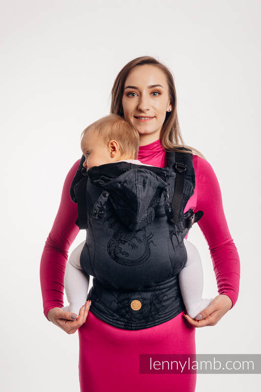 LennyGo Ergonomic Carrier, Baby Size, jacquard weave 100% cotton - DRAGON - DRAGONWATCH #babywearing