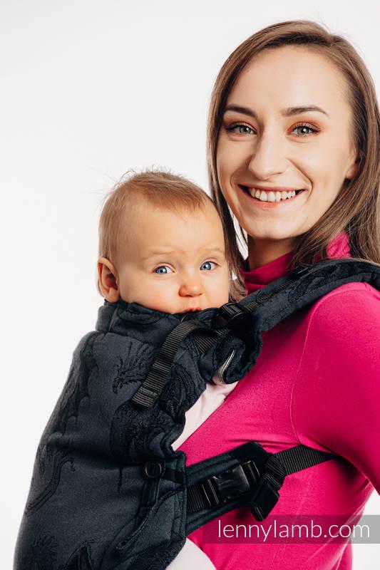 Nosidełko LennyUpGrade z tkaniny żakardowej 100% bawełna , rozmiar standard - DRAGON - SMOCZA STRAŻ #babywearing