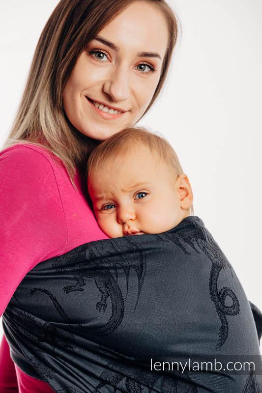 Chusta kółkowa, splot żakardowy, ramię bez zakładek (100% bawełna) - DRAGON - SMOCZA STRAŻ - standard 1.8m #babywearing