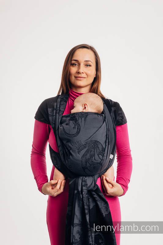 Baby Wrap, Jacquard Weave (100% cotton) - DRAGON - DRAGONWATCH  - size XS #babywearing