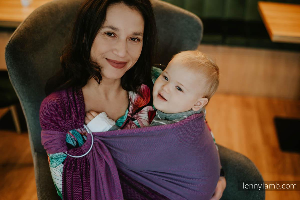 Chusta kółkowa, splot jodełkowy, (100% bawełna), ramię bez zakładek - NOVA - MAŁA JODEŁKA AMELIA  - standard 1.8m #babywearing