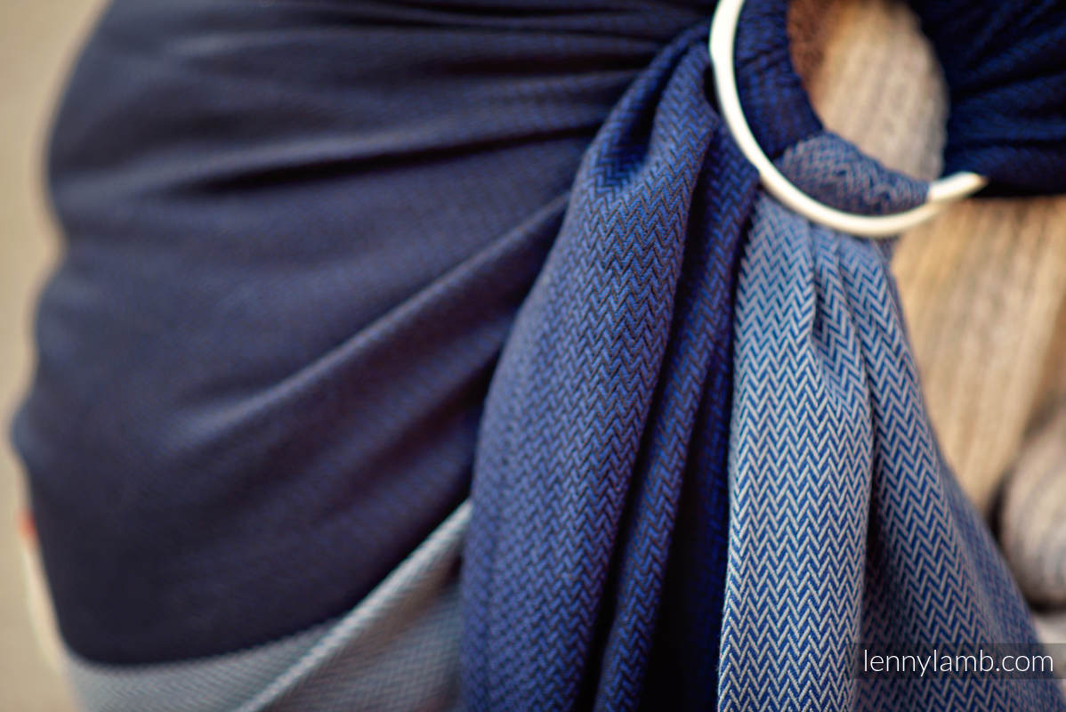 Ringsling, Herringbone Weave (100% cotton) - NOVA - LITTLE HERRINGBONE FRANEK  - long 2.1m #babywearing
