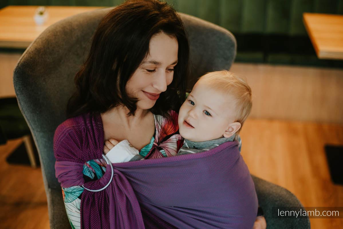 Ringsling, Herringbone Weave (100% cotton) - with gathered shoulder -  NOVA - LITTLE HERRINGBONE AMELIA - standard 1.8m #babywearing