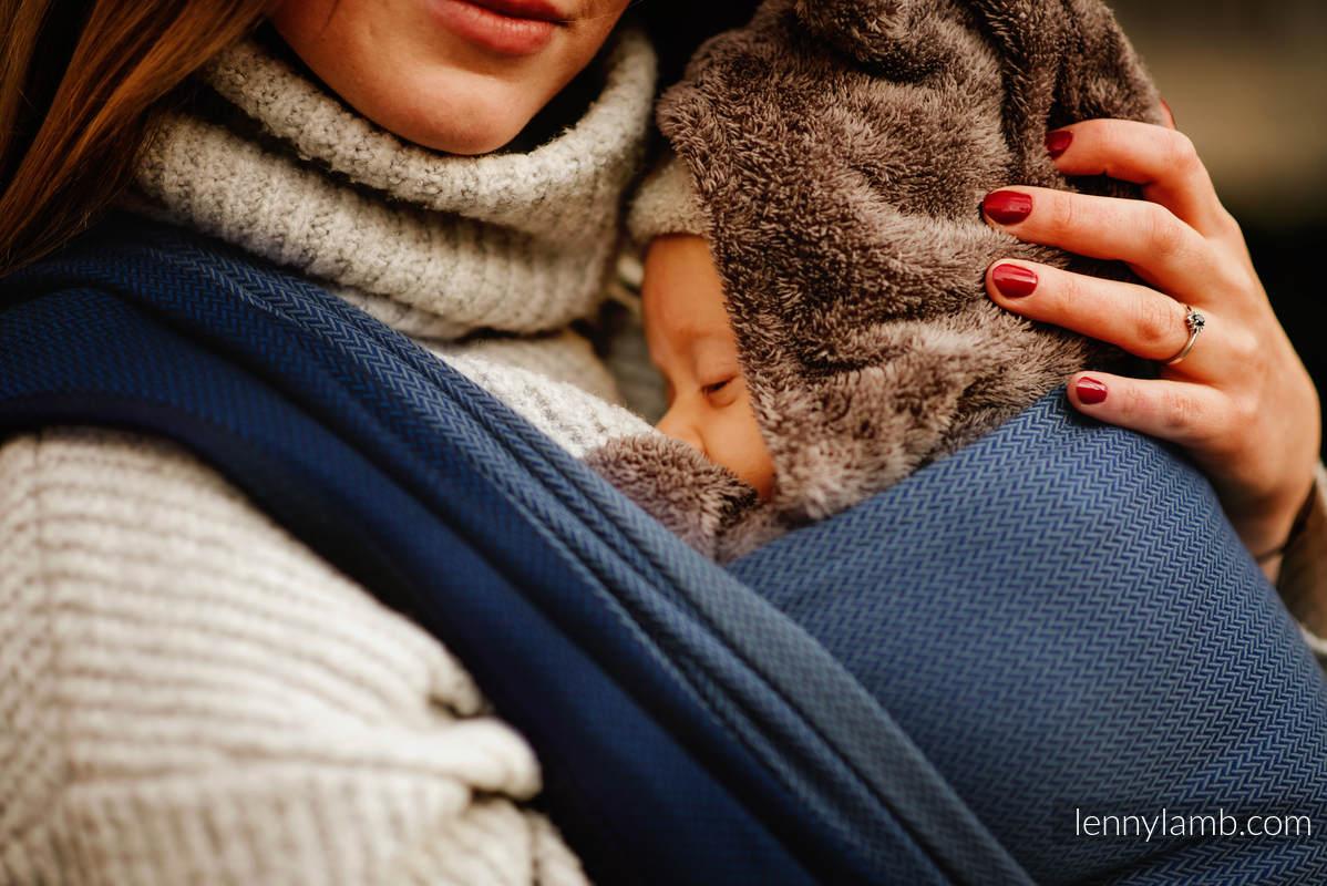 Baby Wrap, Herringbone Weave (100% cotton) - NOVA - LITTLE HERRINGBONE FRANEK  - size XS #babywearing