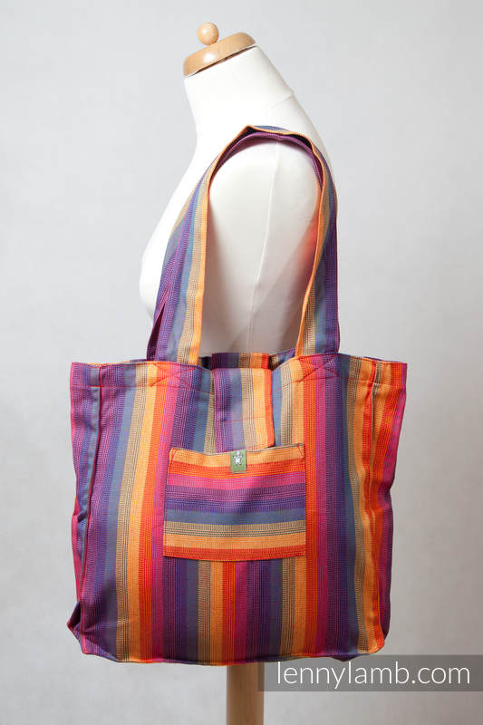 Shoulder bag made of wrap fabric (60% cotton, 40% bamboo) - SUNSET RAINBOW - standard size 37cmx37cm #babywearing