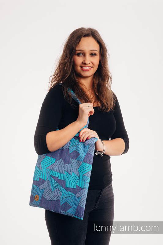 Torba na zakupy z materiału chustowego, (100% bawełna) - PRYZMAT - NIEBIESKI PROMYK  #babywearing
