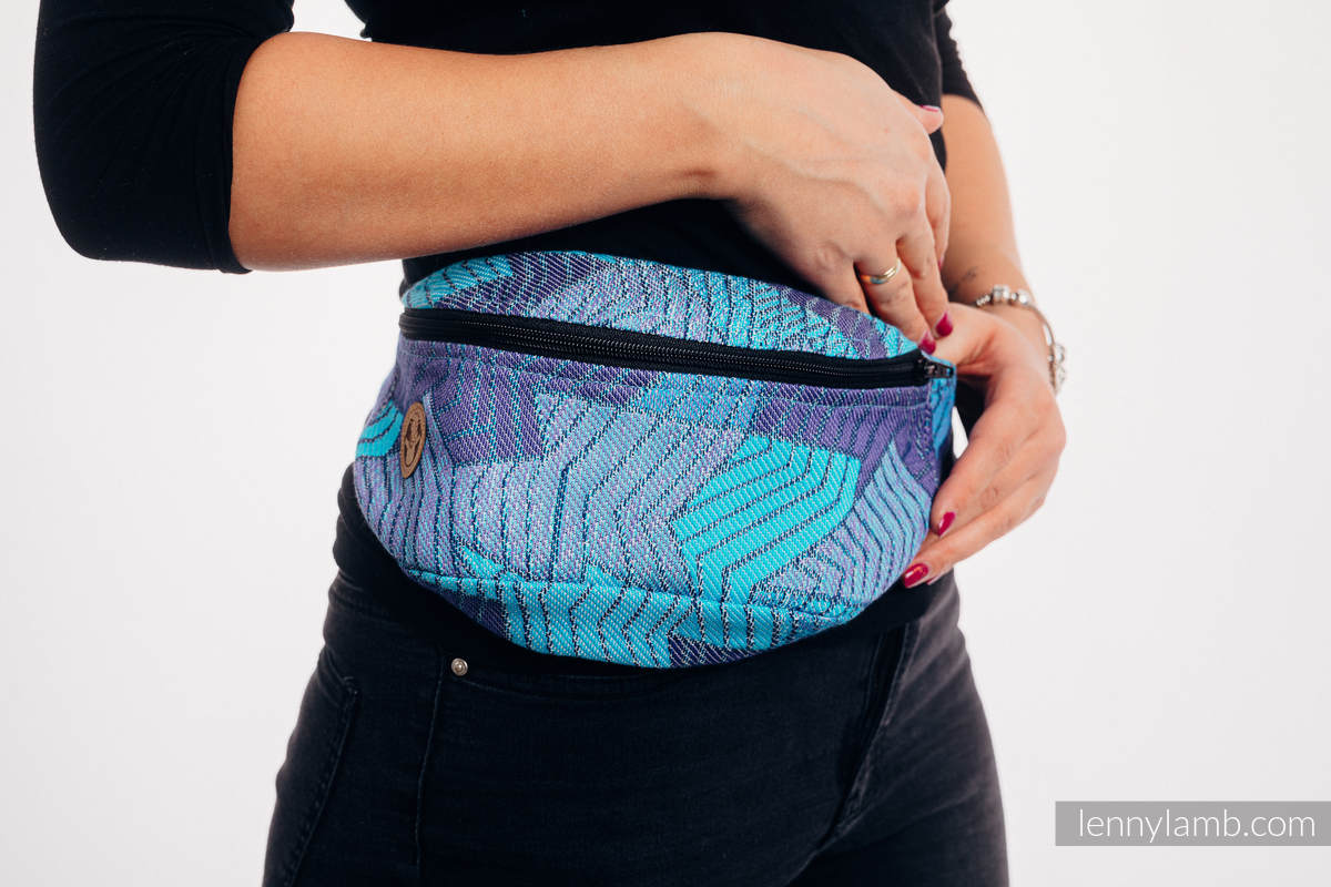 Waist Bag made of woven fabric, (100% cotton) - PRISM - BLUE RAY #babywearing