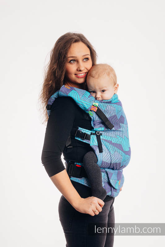 Drool Pads & Reach Straps Set, (60% cotton, 40% polyester) - PRISM - BLUE RAY #babywearing