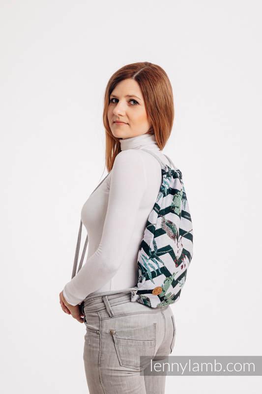 Mochila portaobjetos hecha de tejido de fular (100% algodón) - ABSTRACT - talla estándar 32cmx43cm #babywearing