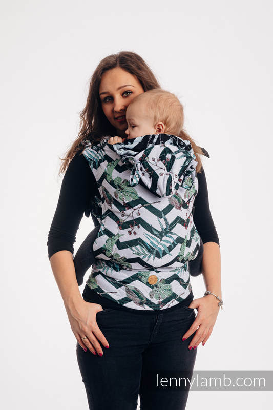 LennyGo Ergonomic Carrier, Baby Size, jacquard weave 100% cotton - ABSTRACT  #babywearing