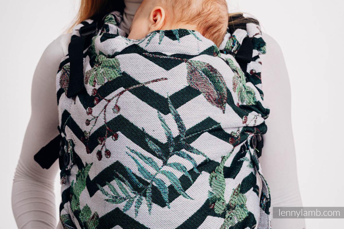 Nosidełko LennyUpGrade  z tkaniny żakardowej 100% bawełna, rozmiar standard - ABSTRACT  #babywearing