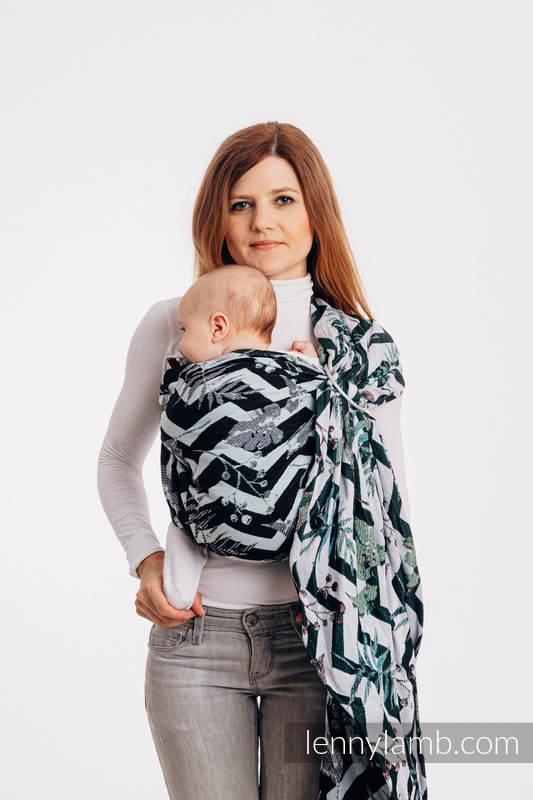 Bandolera de anillas, tejido Jacquard (100% algodón) - con plegado simple -  ABSTRACT - standard 1.8m #babywearing