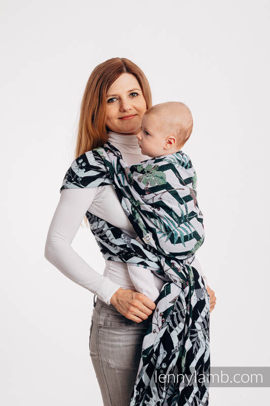 Baby Wrap, Jacquard Weave (100% cotton) - ABSTRACT - size XS #babywearing
