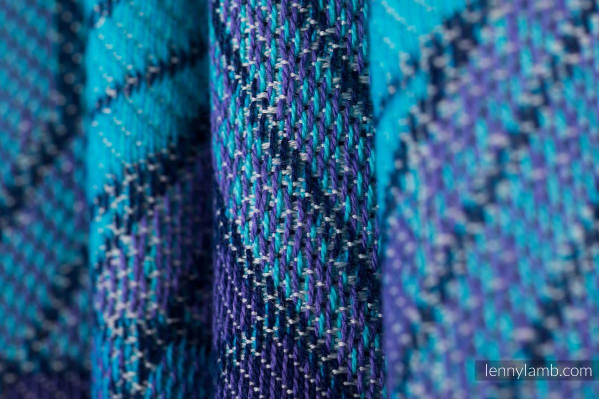 Baby Wrap, Jacquard Weave (100% cotton) - PRISM - BLUE RAY - size XS #babywearing