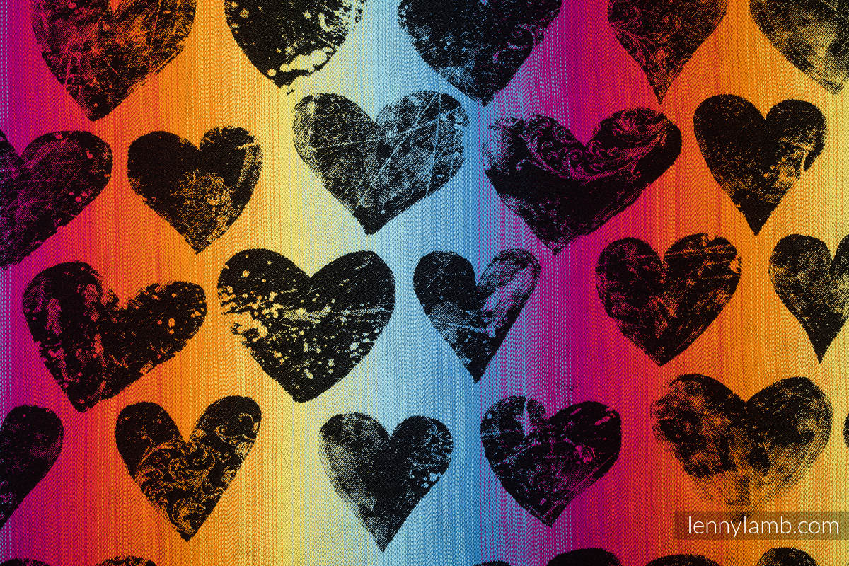 Baby Wrap, Jacquard Weave (100% cotton) - LOVKA RAINBOW DARK - size M #babywearing
