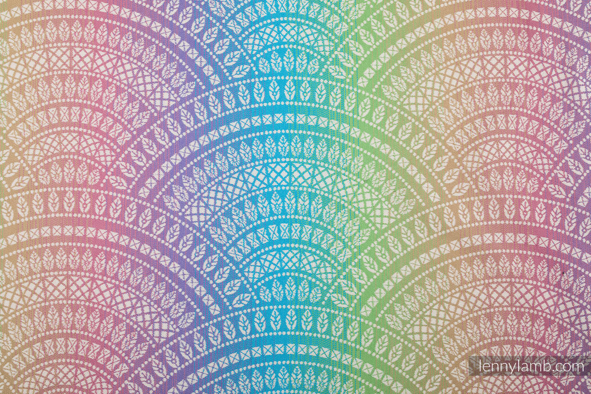 Baby Wrap, Jacquard Weave (100% cotton) - PEACOCK'S TAIL - BUBBLE - size S #babywearing