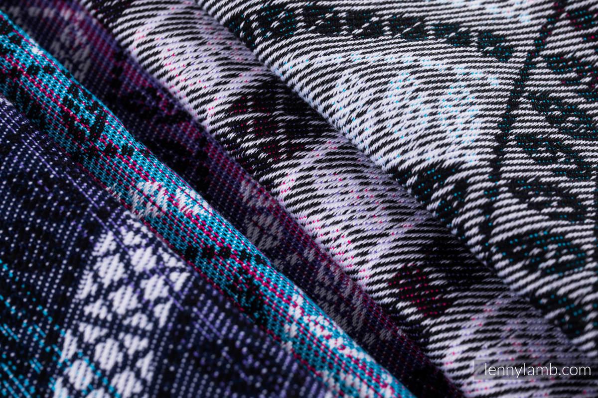 Ringsling, Jacquard Weave (65% cotton, 35% bamboo) - PEACOCK'S TAIL - DREAMSPACE - standard 1.8m #babywearing