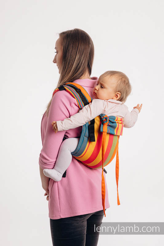 Lenny Buckle Onbuhimo baby carrier, toddler size, broken-twill weave (100% cotton) - ZUMBA ORANGE #babywearing