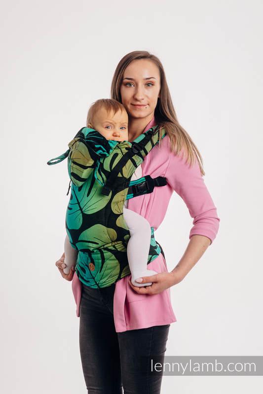 LennyGo Ergonomic Carrier, Baby Size, jacquard weave 100% cotton - MONSTERA  #babywearing