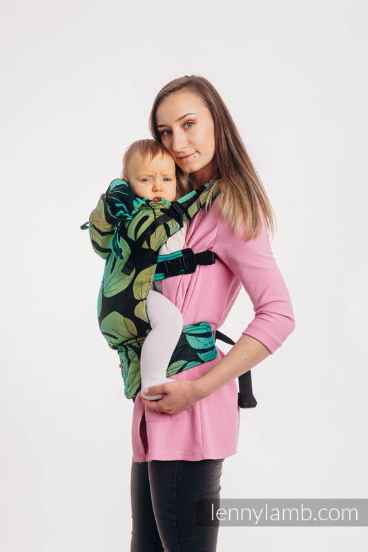Nosidełko Ergonomiczne LennyGo z tkaniny żakardowej 100% bawełna , rozmiar Toddler - MONSTERA #babywearing